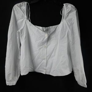 ZARA Crop top with button down front Size Small